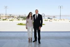 Azerbaijani president, first lady view conditions created at Gulustan Palace after renovation (PHOTO) - Gallery Thumbnail