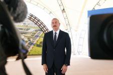 Президент Ильхам Алиев заложил фундамент Алятской свободной экономической зоны, дал интервью Азербайджанскому телевидению  (ФОТО/ВИДЕО) - Gallery Thumbnail