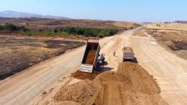 Construction of highway connecting Azerbaijan's several liberated districts continues (PHOTO) - Gallery Thumbnail