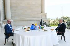 President Ilham Aliyev and President of European Council Charles Michel have joint working dinner (PHOTO) - Gallery Thumbnail