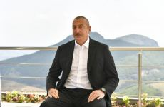 Azerbaijani president views activity of Chovdar integrated regional processing area of AzerGold in Dashkasan district (PHOTO) - Gallery Thumbnail