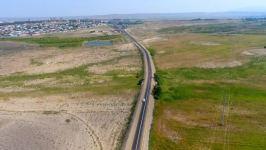 Azerbaijani president inaugurates Alirzali-Khan Garvand-Safikurd-Tapgaragoyunlu highway in Goranboy (PHOTO) - Gallery Thumbnail