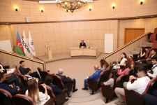 Rector of Baku Higher Oil School Elmar Gasimov met with BHOS graduates who will continue their education abroad (PHOTO) - Gallery Thumbnail