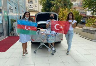 Antalya Azərbaycan Kültür və Dayanışma Dərnəyi Türkiyədəki yanğınla bağlı yardım kampaniyasına qoşulub (FOTO)