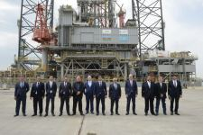 Azerbaijan commissions 'Satti' jack-up rig for drilling in Caspian Sea (PHOTO) - Gallery Thumbnail