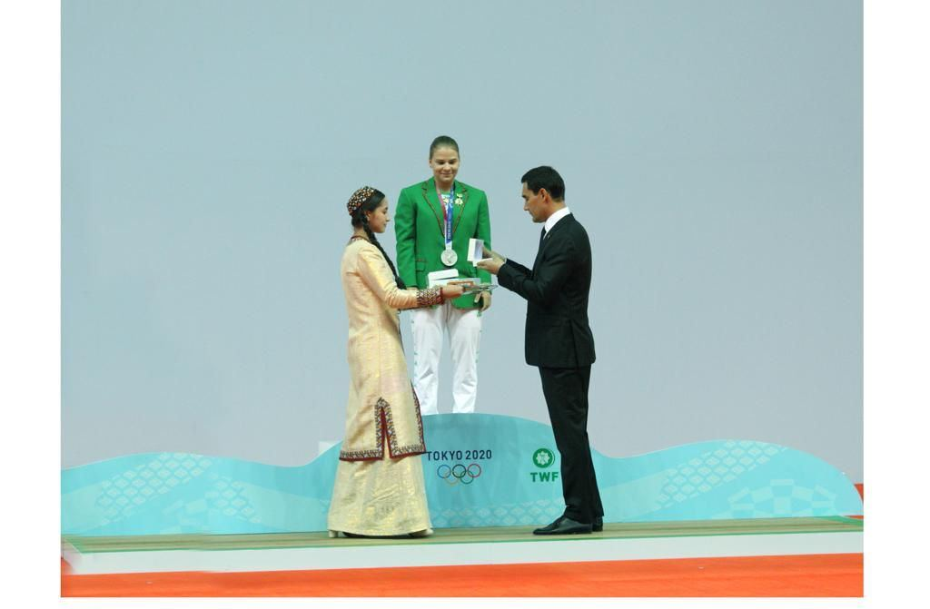 Honoring of the Olympic medalist of Turkmenistan took place in Ashgabat (PHOTO) - Gallery Image