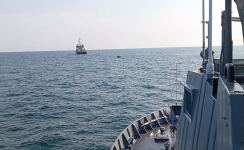"""Azerbaijani military team inspects area of upcoming """"Sea Cup"""" contest in Iran's Enzeli (PHOTO) - Gallery Thumbnail"""