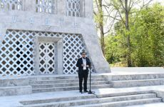 Azerbaijani president, first lady attend opening of Vagif Poetry Days in Shusha (PHOTO) - Gallery Thumbnail