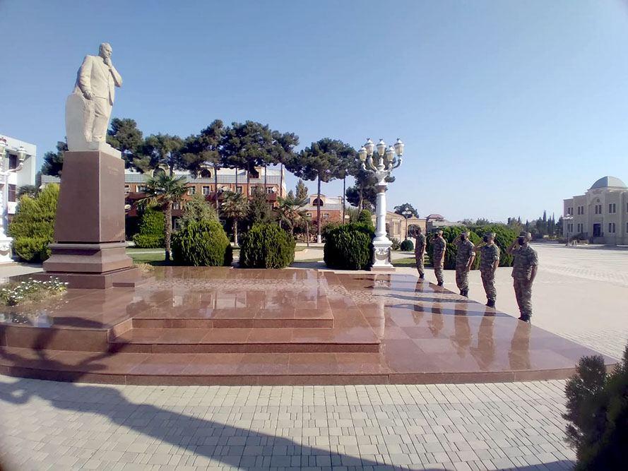 В азербайджанской армии прошли мероприятия, приуроченные к 103-й годовщине освобождения Баку от оккупации (ФОТО) - Gallery Image
