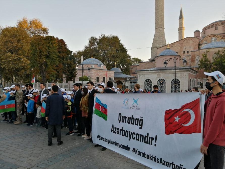 Vətən müharibəsi şəhidlərinin xatirəsi İstanbulda anılıb (FOTO) - Gallery Image
