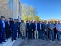 Address of Azerbaijani president to people on Remembrance Day broadcast in front of Juma Mosque in Aghdam (PHOTO) - Gallery Thumbnail