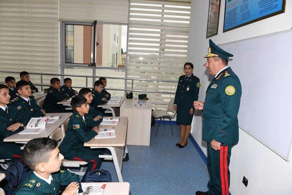 Mərdəkanda Dövlət Sərhəd Xidmətinin Xüsusi Məktəbinin yeni korpusunun açılışı olub (FOTO) - Gallery Image