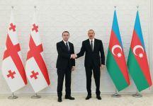 Azərbaycan Prezidenti İlham Əliyev Gürcüstanın baş naziri ilə görüşüb (FOTO/VİDEO) (YENİLƏNİB) - Gallery Thumbnail