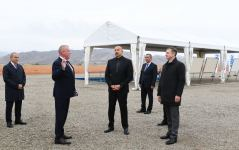 Azerbaijani president lays foundation for joint service center of KAMAZ  and Ganja Automobile Plant in Jabrayil (PHOTO) - Gallery Thumbnail