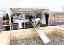 President Aliyev lays foundation stone for Jabrayil District Central Hospital (PHOTO) - Gallery Thumbnail