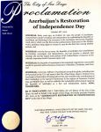 California's second largest city proclaims October 18 as 'Azerbaijan Day' (PHOTO) - Gallery Thumbnail