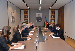 Azerbaijani FM discusses mine threat in liberated territories with French CNEMA delegates (PHOTO)