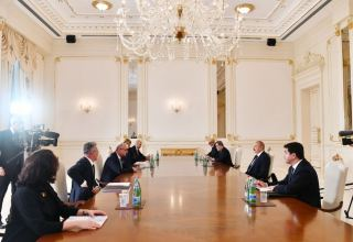 President Ilham Aliyev receives Croatia's Minister of Foreign and European Affairs