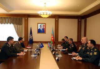 Azerbaijani defense minister meets NATO official (PHOTO)