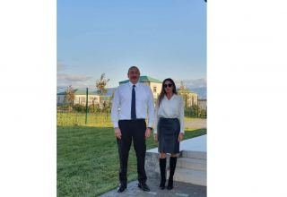 Birinci vitse-prezident Mehriban Əliyeva Prezident İlham Əliyevlə Zəngilandan fotolar paylaşıb (FOTO)