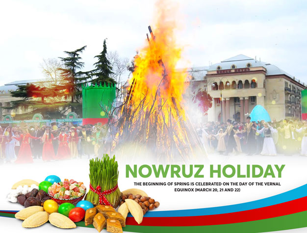 Nowruz holiday – The beginning of spring is celebrated on the day of the vernal equinox (March 20, 21 and 22)