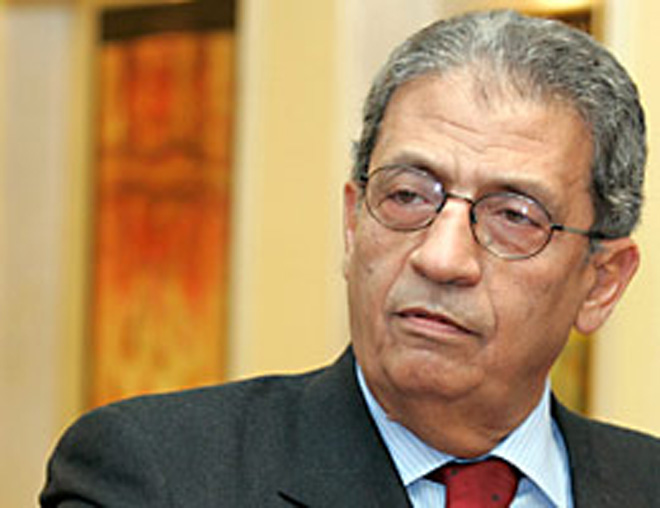 Photo: Amr Moussa hints at Egypt incursion into Libya