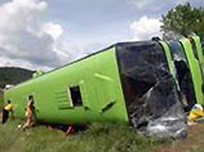 Photo: One person killed, several injured in Turkey as bus overturns   / Other News