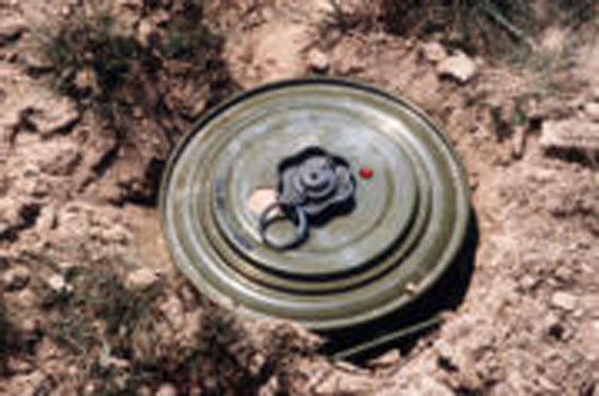 Photo: One mine explosion registered during mine clearing operations in Azerbaijan in Feb. / Society