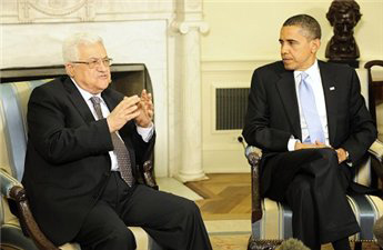 Photo: Obama urges Abbas to take risks for peace / Arab-Israel Relations
