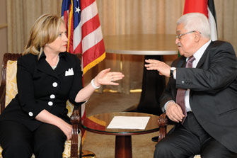 Photo: Clinton meets Abbas in Ramallah  / Arab World