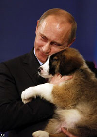Photo: Bulgarian prime minister adds puppy to Putin's pet collection / Other News
