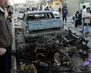 Photo: Islamic State says carried out Baghdad suicide bombing