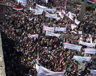 Photo: Protesting Yemen rebels reject presidential overture