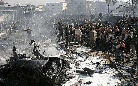 Photo:  Israeli airstrike kills fighters in Gaza  / Arab-Israel Relations