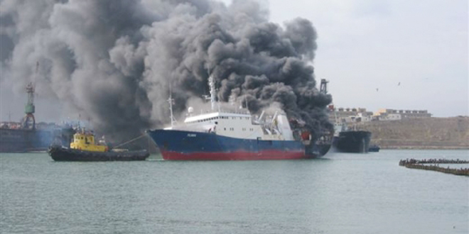Photo: Fire on Turkish tanker in Bosporus strait extinguished (UPDATE) (VIDEO) / Other News