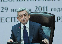 Photo: Armenian president claims to never again run for presidency