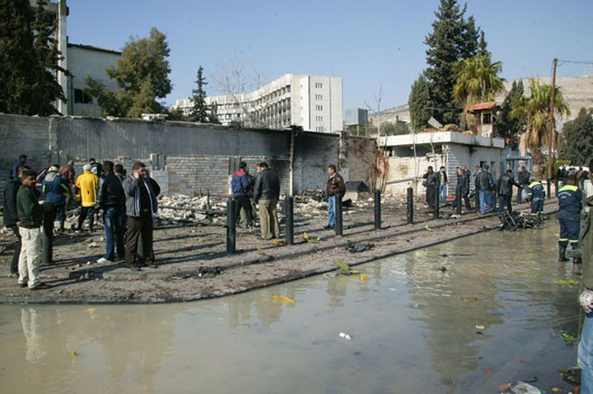 Photo: NGO: Five dead in blast by security HQ in central Syria