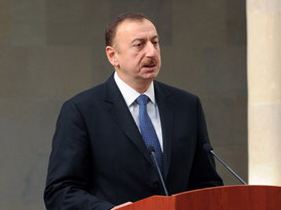 Photo: Aliyev: Armenia wants to build history on lies