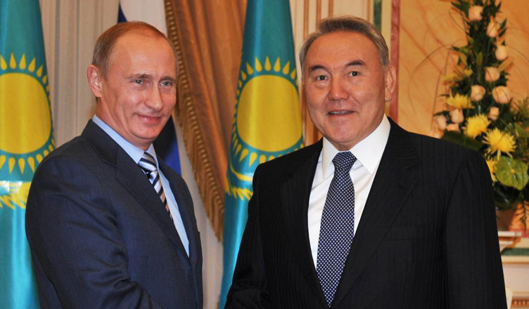 Photo: Putin informs Nazarbayev on results of his meeting with Azerbaijani, Armenian presidents