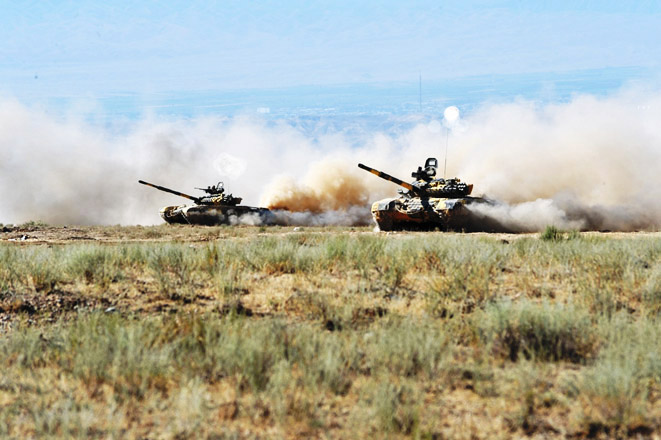 Photo: Armenian Armed Forces conduct large-scale military exercises in occupied Azerbaijani land / Nagorno-karabakh conflict