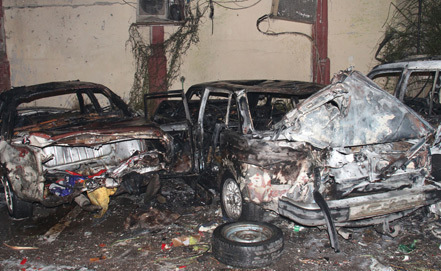 Photo: Deadly car bomb strikes northern Damascus  / Arab World