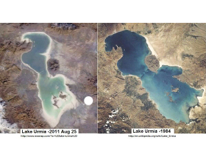 Photo: Expert: Shoaling of Urmia lake to lead to sand and salt storms in Iran  / Society