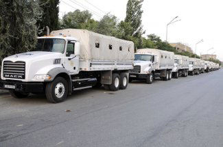 Photo: Turkish NGO  sent 229 trucks of aid from Turkey / Arab World