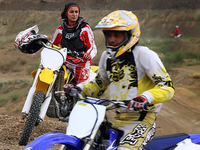 Photo: Women officially allowed to become moto racers in Iran / Iran