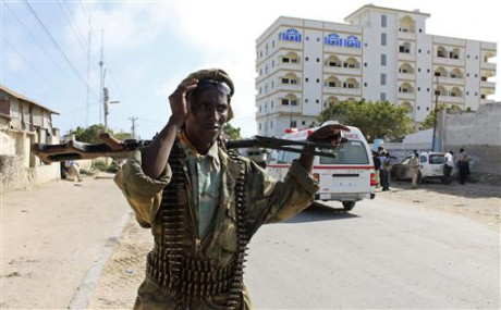 Photo: Al Qaeda-linked militants attack Somali presidential compound / Other News
