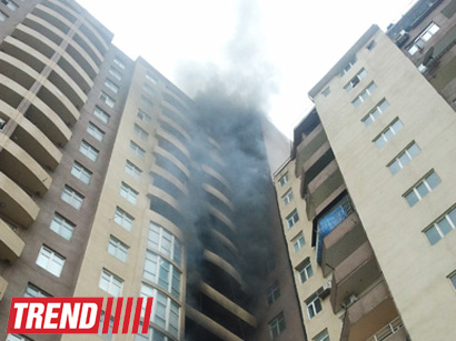 Photo: Building burning in center of Baku (UPDATE)  / Society