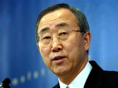 Photo: Ban Ki-moon to push ahead with Syria peace talks / Arab World