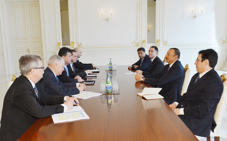 Photo: President Ilham Aliyev receives Slovakian delegation led by Deputy Prime Minister and Minister of Foreign and European Affairs 