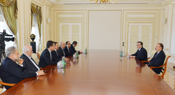 Photo: Azerbaijan`s President receives Turkish minister of forestry and water 