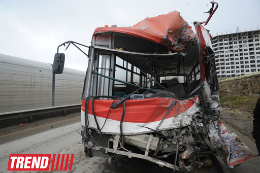 Photo: Two people killed, many injured in Baku bus accident (UPDATE 3)